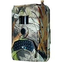 KKmoon Caméra d'angle 1080P 12MP, Caméra de Chasse à LED Infrarouge de 120°, IP56 Etanche, DC 15V Alimentation