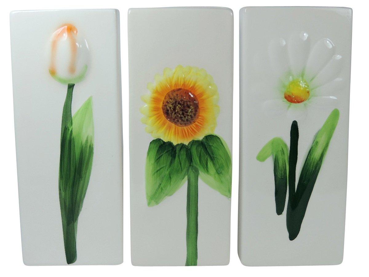 versandfuxx24 - 3 cerámica agua - Humidificador para radiadores (Diseño: Flores: Amazon.es: Bricolaje y herramientas