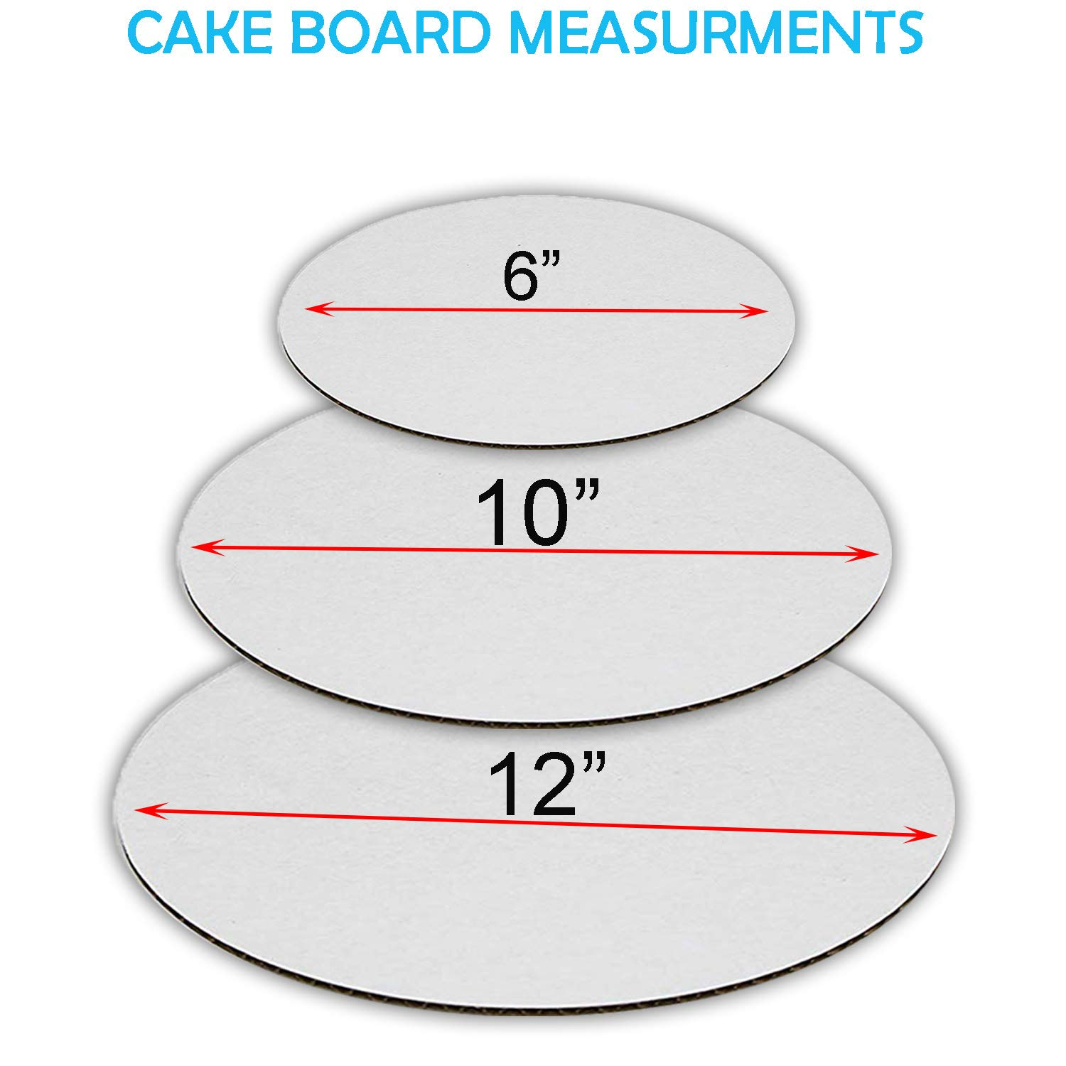 Cardboard Cake Rounds Cake Board Cake Base 6 of each Cake Boards set of 18 and Cake Boards 12 Inch Cake Circles. Cake Boards 6 inch Cake Boards 10 inch