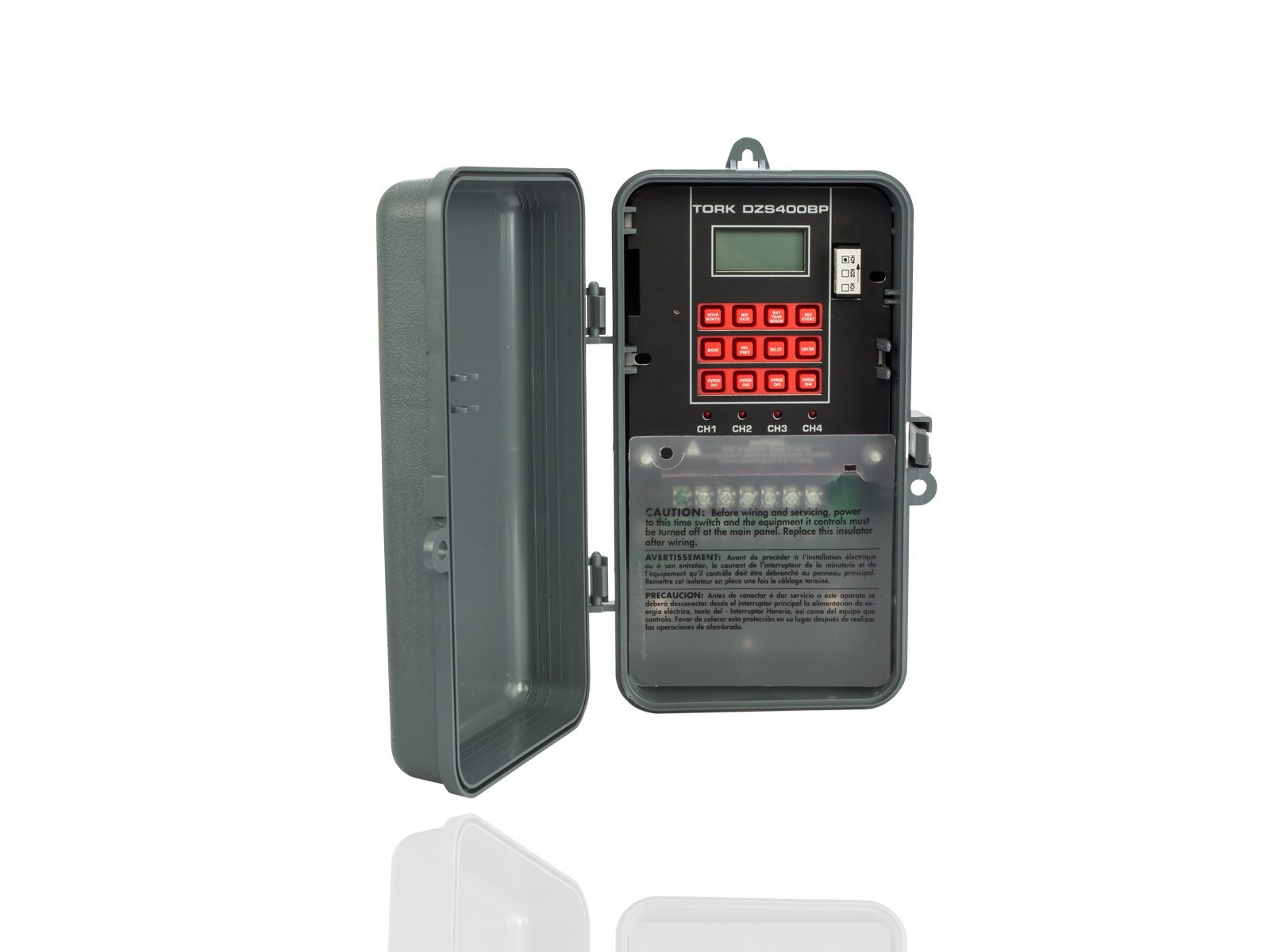 DZS Series Multipurpose Control 365/7 Day Advanced Time Switch, 120/208-240/277 VAC Timer Supply, 4 Channels, SPDT Dry Contact