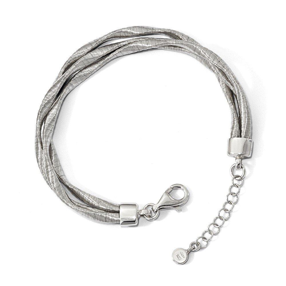 925 Sterling Silver Rhodium-plated 3-strand Bracelet