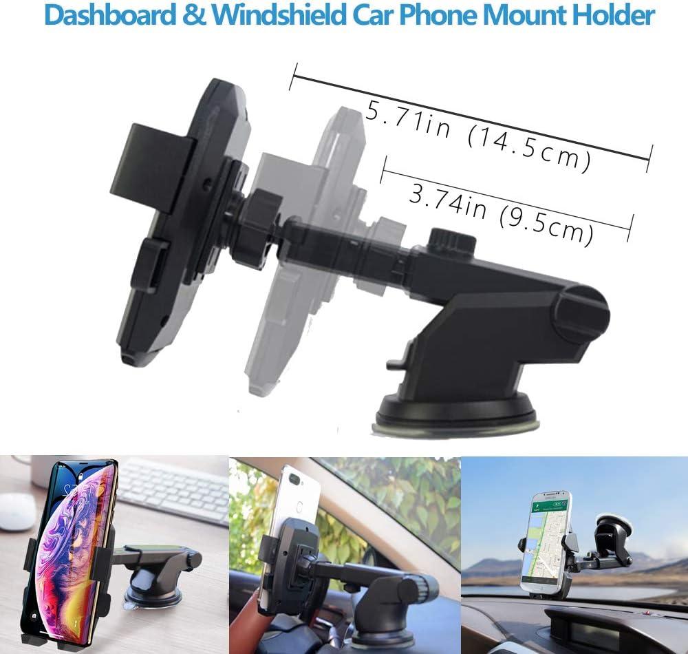 Black Car Phone Mount Holder,Car Air Vent Phone Mount Holder,Cell Phone Mount Holder for Car Compatible with iPhone 11Pro//Xs//8//Plus,Samsung,Moto,Pixel,Huawei,Nokia,LG,Smartphones