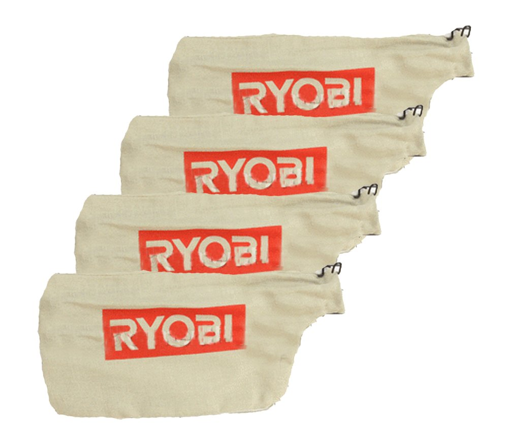 Ryobi TS1142L Compound Miter Saw (4 Pack) Replacement Dust Bag W/Wire # 089240003084-4pk by Ryobi