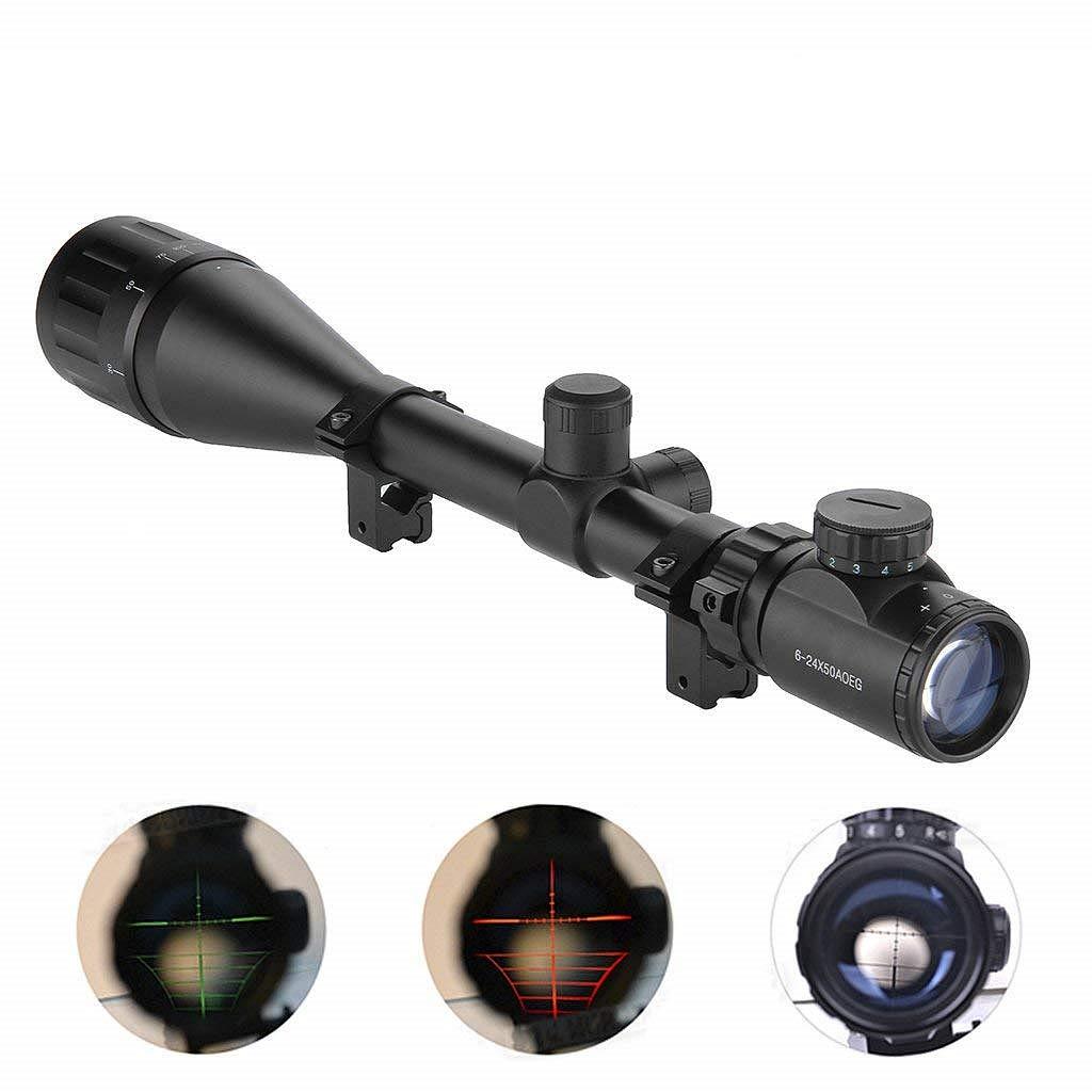 IRON JIA'S Miras de Arma 4-16X50 Airsoft alcances tácticos óptica luz Verde Rojo Doble w/Rails y Mont Lateral de la Caza de IRON JIA' S