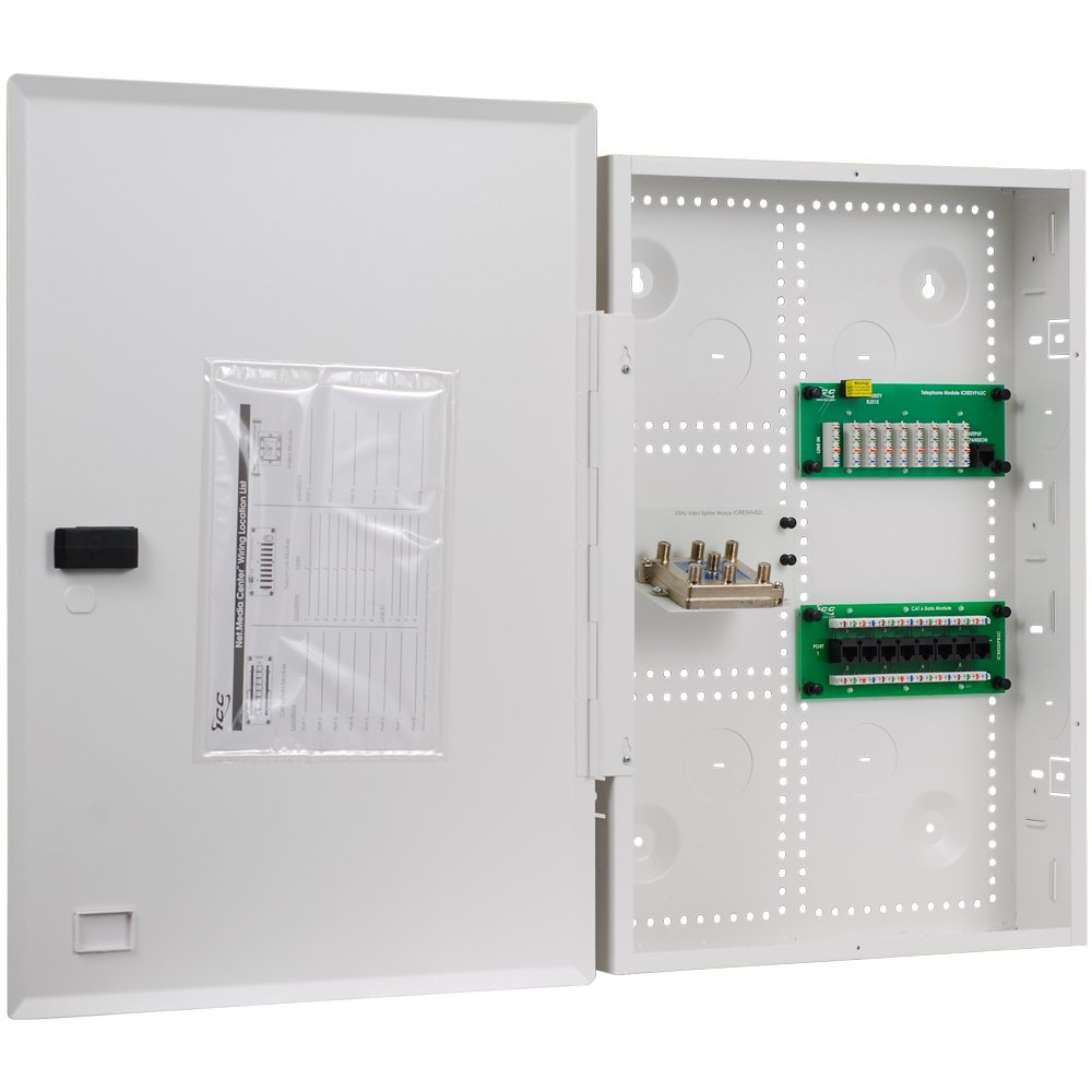 ICC 21'' Combo Voice/Data/Video Structured Wiring Enclosure by ICC