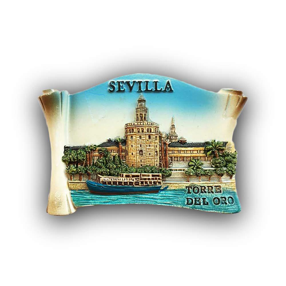 3D Sevilla Sevilla España Refrigerador Imán de Nevera ...
