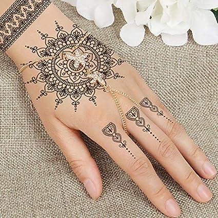 anzihuanxi Moda Flash Mujeres Mujeres Tatuaje De Henna Joya De ...
