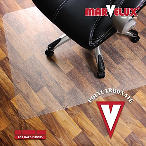 Marvelux 48'' x 60'' Heavy Duty Polycarbonate (PC) Rectangular Chair Mat for Hard Floors | Transparent Hardwood Floor Protector | Multiple Sizes by Marvelux (Image #5)