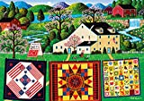 quilt puzzle - Buffalo Games - Charles Wysocki - The Quiltmaker Lady - 300 Large Piece Jigsaw Puzzle