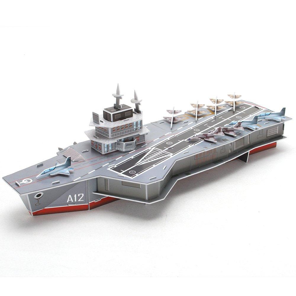 CubicFun Aircraft Carrier Charles de Gaulle Warship 3D Puzzle Model Kit for Boys, 133 Pieces CubicFun Toys Industrial Co. Ltd.