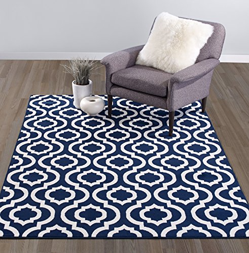 Diagona Designs Contemporary Moroccan Trellis Design 8' by 10' Area Rug, 7'10