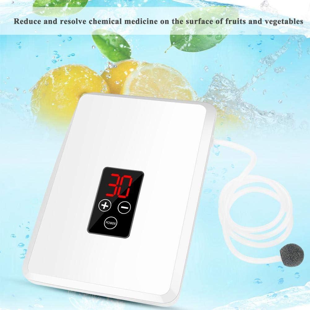 400mg Generador de ozono Purificador de aire Fruta Esterilizador de agua Limpiador Filtro Purificador de aire para dormitorios de oficina en el hogar M/áquina de desinfecci/ón de aireEsterilizador UE