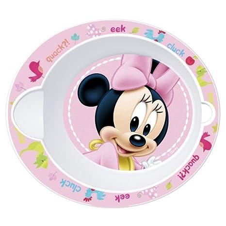 Bebé Plato de sopa microondas Disney Minnie Diam. 16 cm cuenco ...