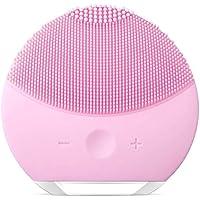 Threecat Esponja limpiadora de Silicona para la Cara, Cepillo y masajeador Facial eléctrico Resistente al Agua, Sistema Limpiador y antienvejecimiento para Todo Tipo de Pieles