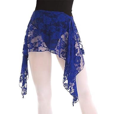 Agoky - Falda de Baile del Vientre Latino asimétrico, Falda Pareo ...