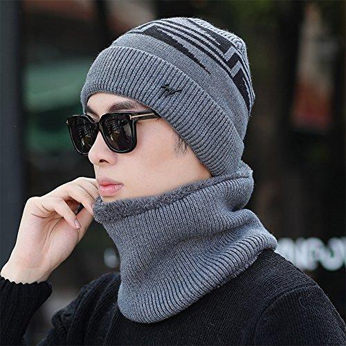 CJC Sombrero Bufanda Prevenir El Viento Frío Cuatro Colores (Color : Gray)