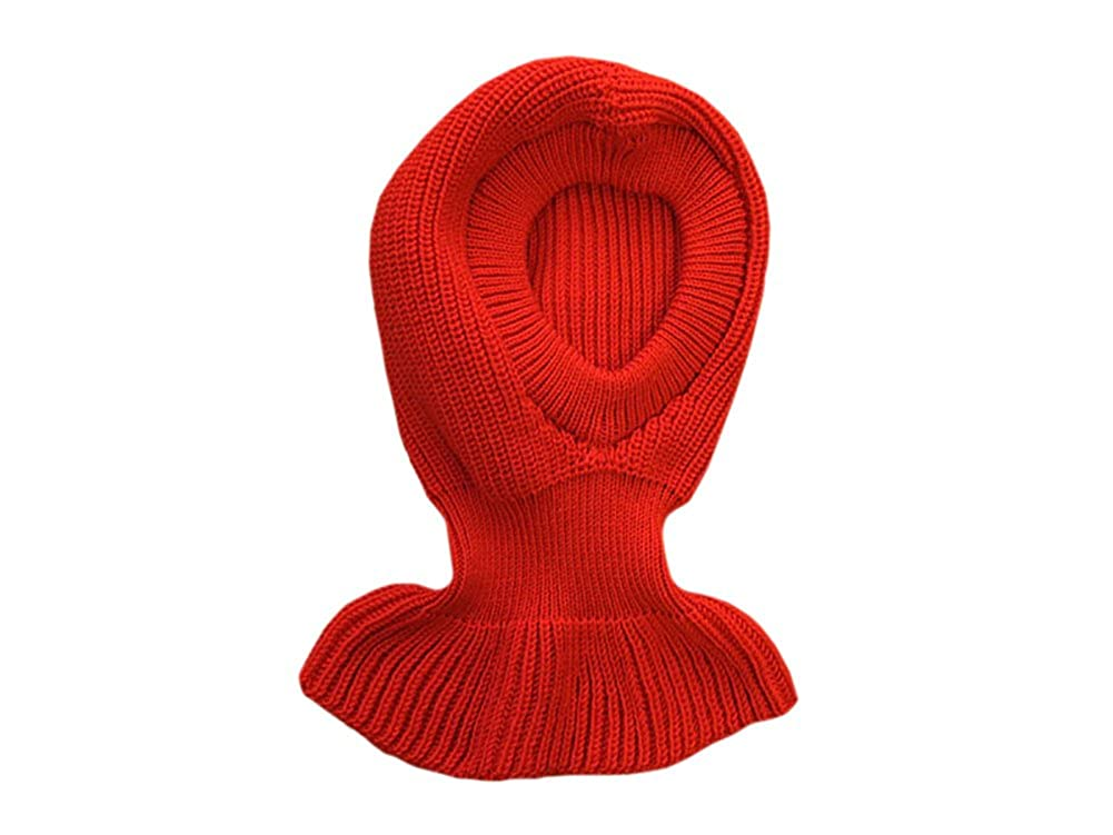 Balaclava 100% merino wool adult men women winter hat neck warmer knitted
