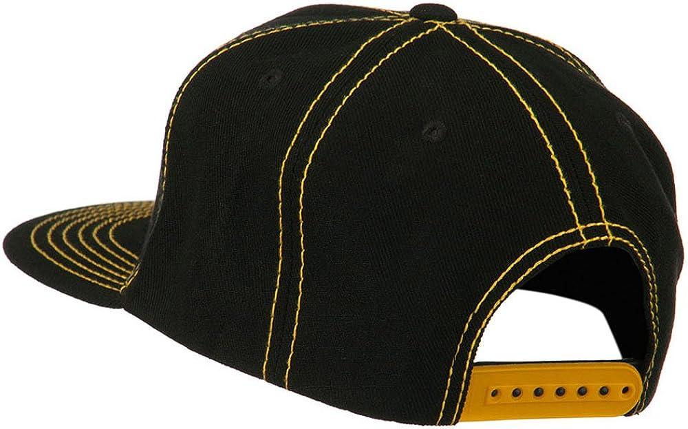 Black Gold DECKY Contrast Stitch Flat Bill Snapback Cap