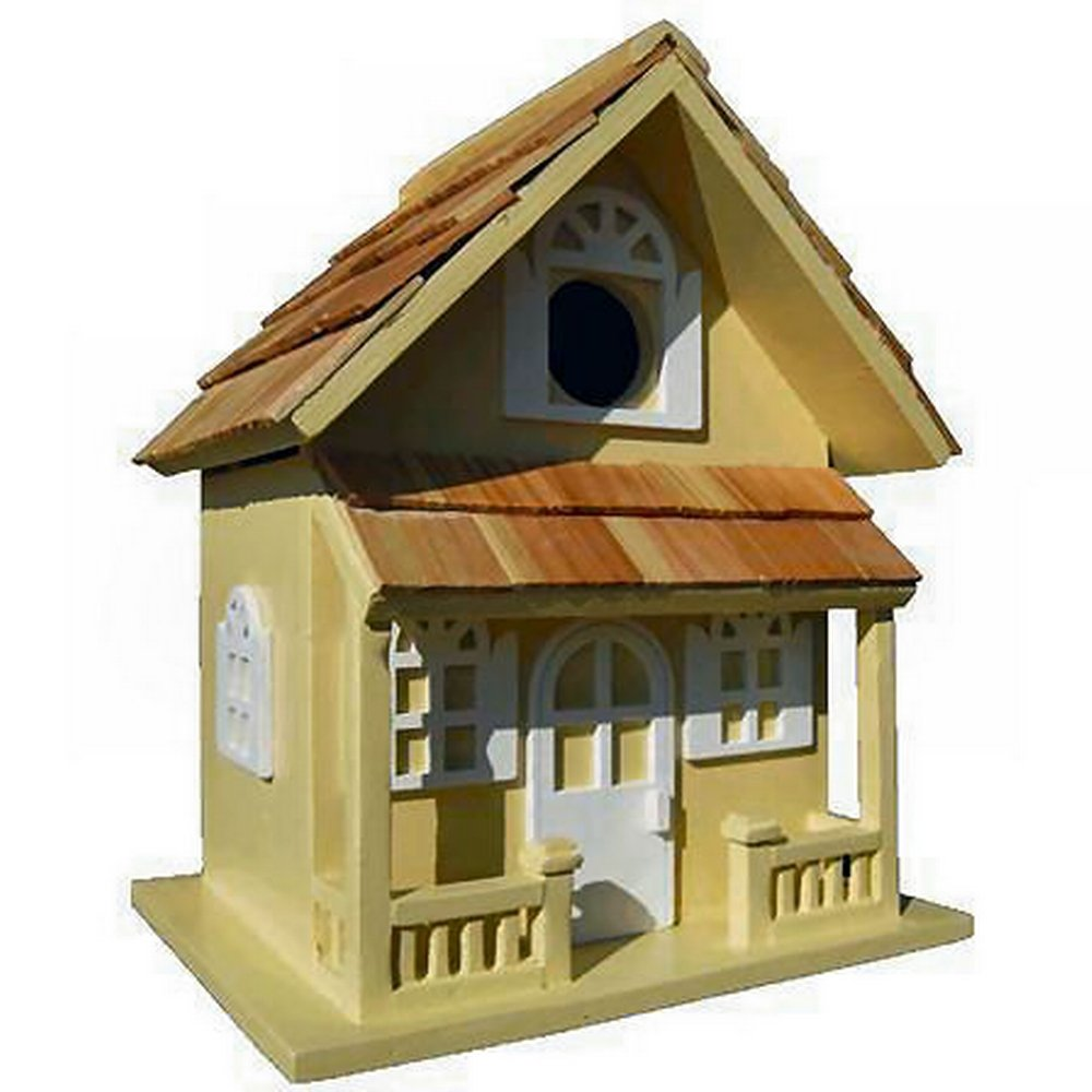 GARDEN BAZAAR HB-7001W Country Cottage Bird House - White