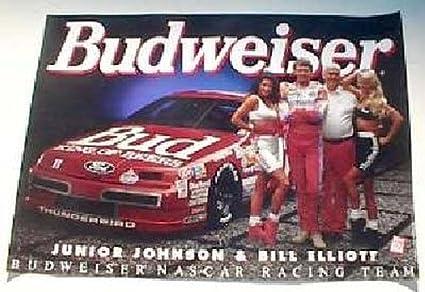 Amazon com : Bud Racing Johnson / Elliott 20 X 28 Poster