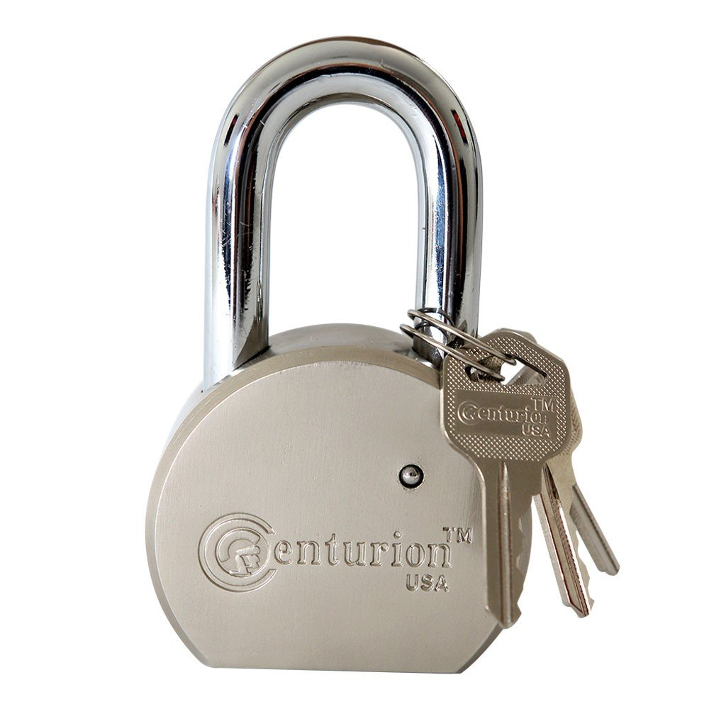 Centurion Round Body Solid Steel Padlock – 65mm Wide Body (60mm Shackle) – High Security Padlock