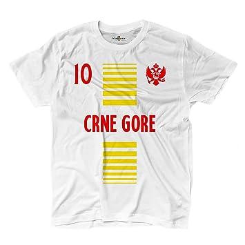 KiarenzaFD Camiseta T-Shirt Hombre Nacional Deporte Montenegro CRNA Gora 10 Futbol Deporte Europe Aquila
