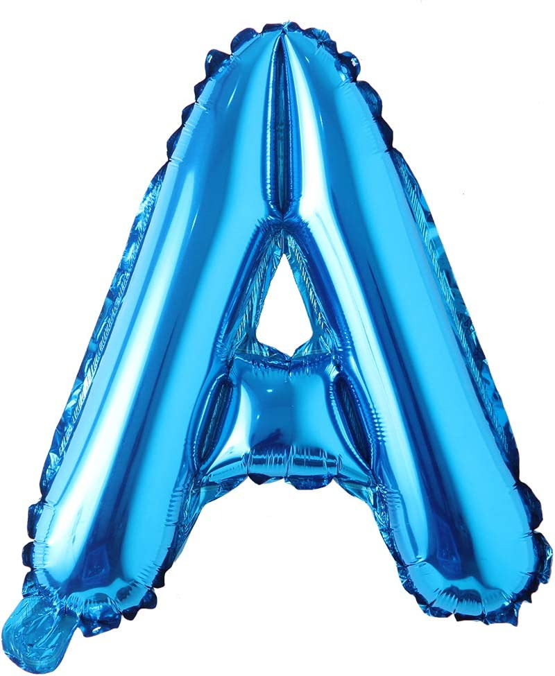 16 Inch Single Blue Alphabet Letter Number Balloons Aluminum Hanging Foil Film Balloon Wedding Birthday Party Decoration Banner Air Mylar Balloons 16 Inch Pure Blue A Health Personal Care Amazon Com