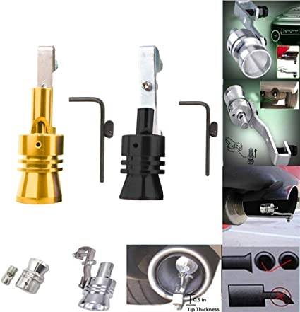 Exhaust Pipe Oversized Roar Maker Turbo Sound Simulator Whistle Light Weight