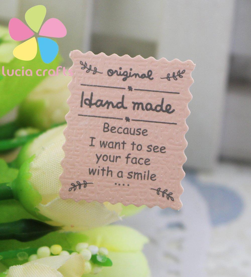 2*48pcs Pink ''Hand Made'' Sealing Sticker Baking Package/gift Bag Sticker