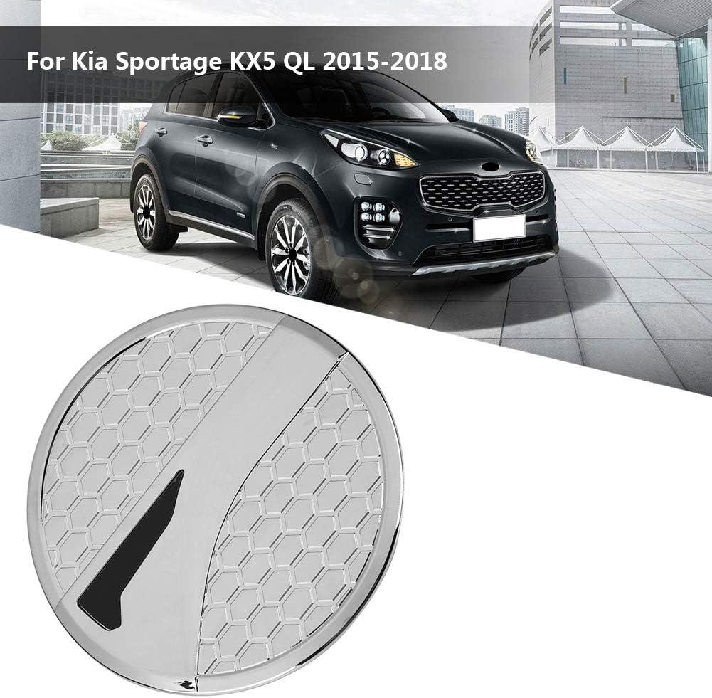 Auto ABS Chrom Tankdeckel Verkleidung f/ür Sportage KX5 QL 2015-2018 Suuonee Kraftstofftankabdeckung