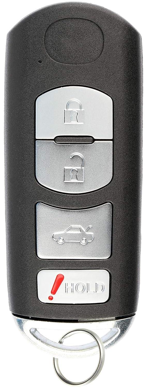 KeylessOption Keyless Entry Remote Smart Car Key Fob for Mazda 6 2009-2013 KR55WK49383
