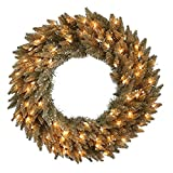 Vickerman 36'' Antique Champagne Fir Wreath 320T
