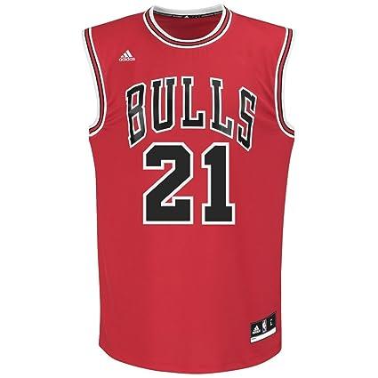 572731a02 Amazon.com   adidas Jimmy Butler Chicago Bulls NBA Replica Jersey ...