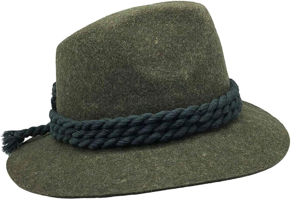 German Bavarian Oktoberfest Gray Edelweiss Hat with Braids