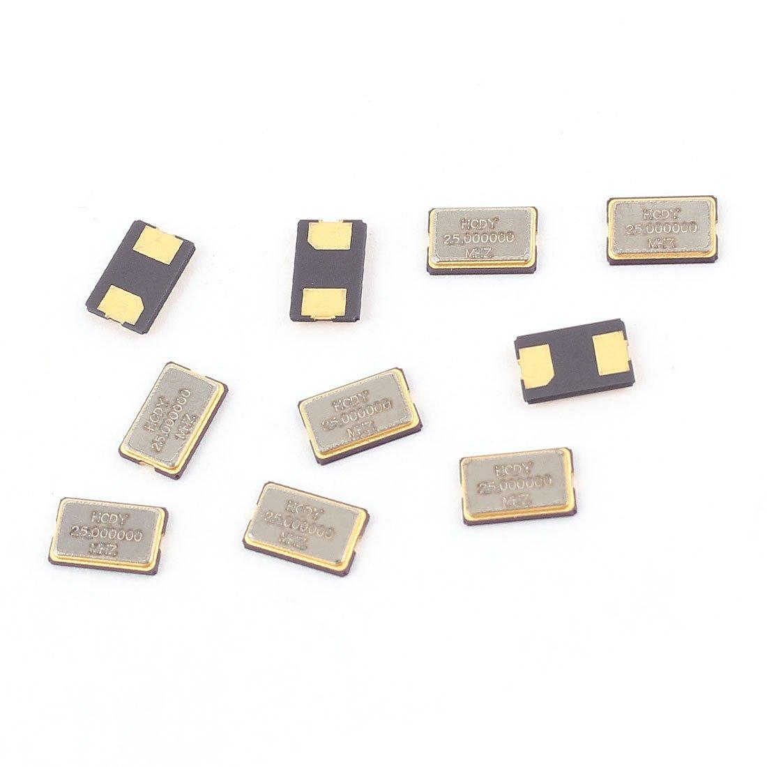 Aexit 10Pcs 25MHz Passive Components 25.000Hz SMD Passive Crystal Quartz Crystals Oscillator 5032