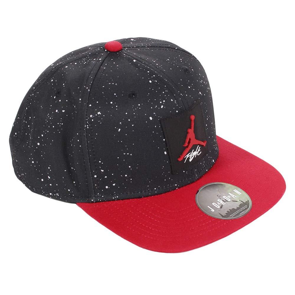 info for 3bbe5 36e74 Nike Jordan PRO AOP Snapback, Men s Hat, Black Gym Red, One Size   Amazon.co.uk  Sports   Outdoors