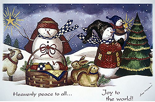 """238 Joy to the World Christmas Waterslide Ceramic Decals By The Sheet (10 3/4"""" X 7 1/4"""" 1 pc)"""
