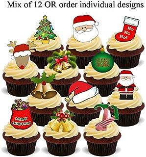 Weihnachten Pinguin Mix 12 Essbare Standup Kuchen Deko