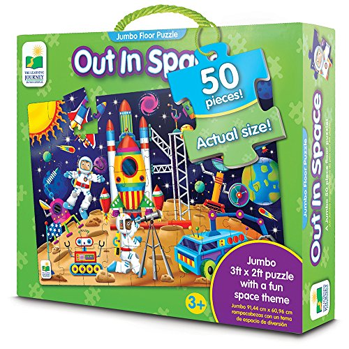 The Learning Journey: Out In Space - Extra Large Puzzle Measures 3 ft by 2 ft