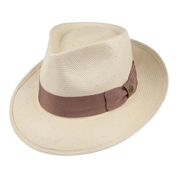 Brixton Hats Presley Straw Fedora - Tan Medium - 58cm  Amazon.co.uk ... 0fcef8090dfd