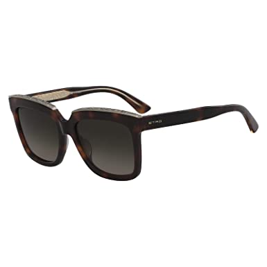9ef1c26bc678 ETRO Women's ET661S Sunglasses, Brown (Havana), 55.0, Size 140 mm ...