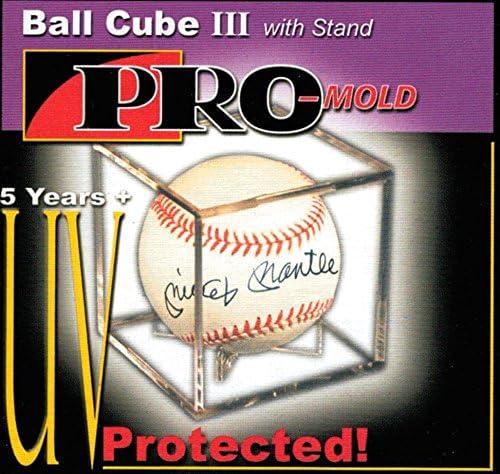 25 year protection 12 PRO-MOLD BALL SQUARE III UV BASEBALL CUBE HOLDERS