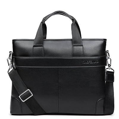Briefcase PU Leather Business Casual Bag Retro Travel Computer Laptop Bag