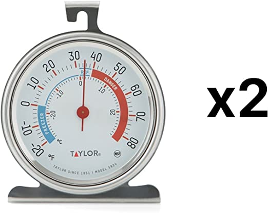 Taylor Classic Series Freezer/Refrigerator Thermometer 3.25