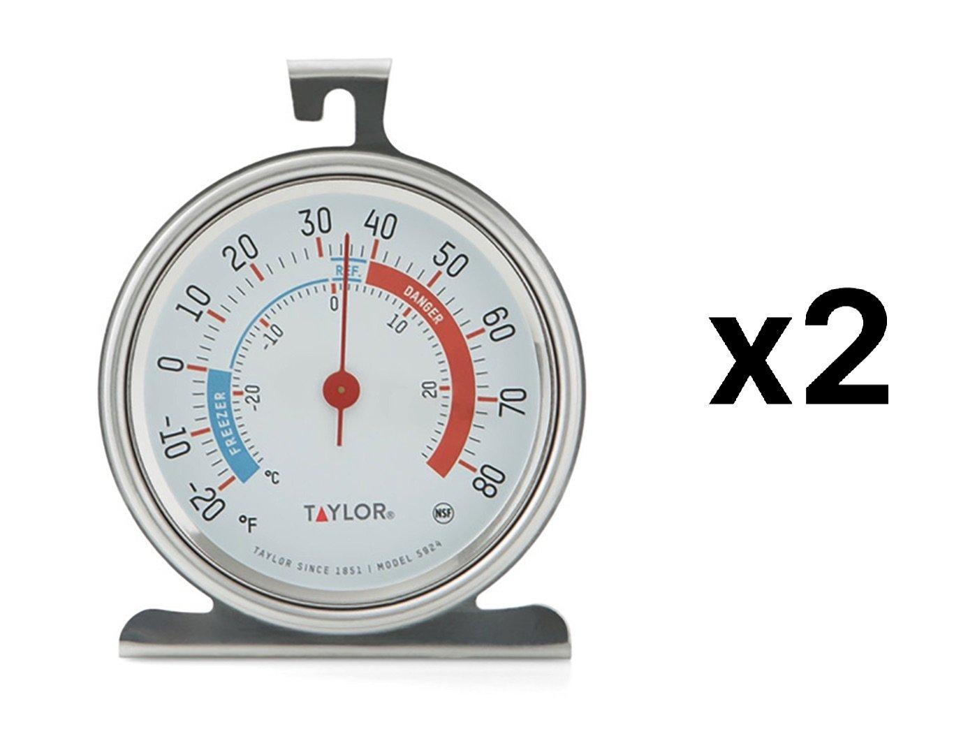 "Taylor Refrigerator Thermometer -20 Deg F To 80 Deg F 3-1/4"" X 3-3/4"""