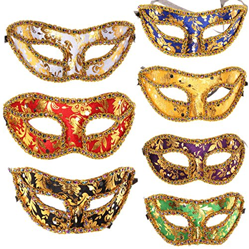 10pcs Set Different Colors Half Masquerades Venetian Masks Costumes Party Accessory (Lady Costume Mask)