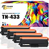 Toner Bank Compatible with Brother TN433 TN 433 TN-433BK TN431 Toner Cartridge for Brother HL-L8260CDW HL-L8360CDW HL-L8360CDWT MFC-L8900CDW MFC-L8610CDW L8360CDW L8900CDW Color Laser Brother Printer
