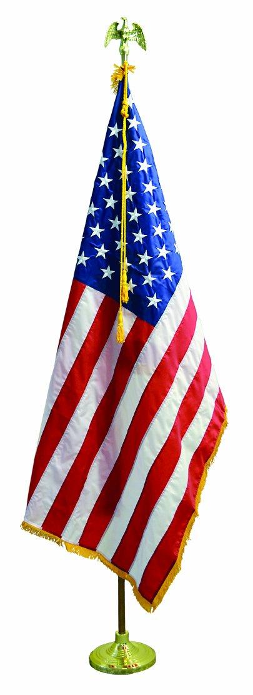 9' U.S. Flag Presentation Set Include 4'x6' American Flag Pole and Stand