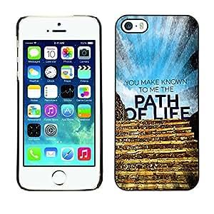 Paccase / Dura PC Caso Funda Carcasa de Protección para - BIBLE You Make Known To Me The Path Of Life - Apple Iphone 5 / 5S