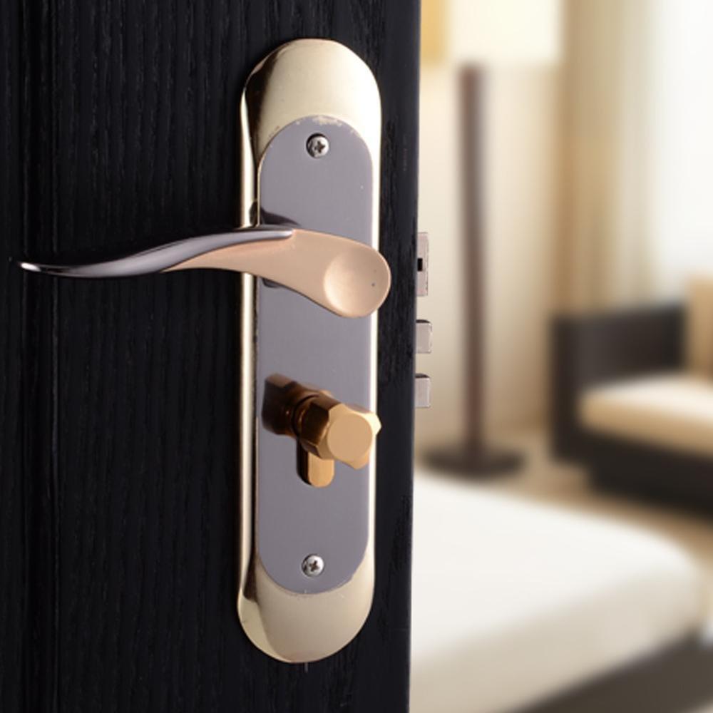 Daeou Aluminum interior door locks indoor wooden door lock simple door handle handle lock hardware locks by Daeou (Image #2)
